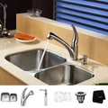 Kraus Stainless-Steel Undermount Kitchen Sink, Faucet and Soap Dispenser
