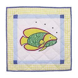 'Fun Fish' 16x16 Throw Pillows and Fillers (Set of 2)