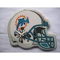 Durable Wood and Plastic Miami Dolphins Logo Helmet Analog Clock