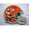 Collectible Red-and-white Kansas City Chiefs Helmet Analog Clock