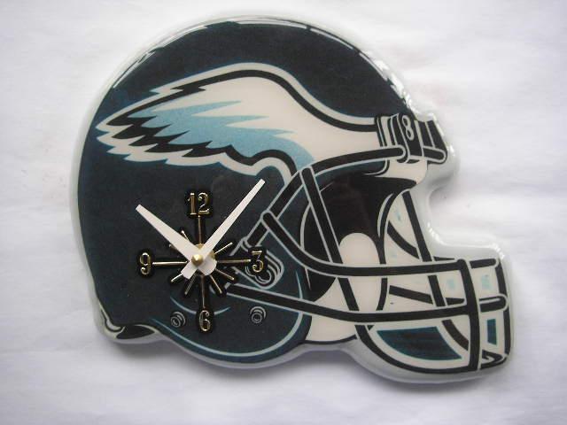 Philadelphia Eagles Helmet Clock