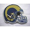 St. Louis Rams Wood/Plastic Handy Helmet-shaped Memorabilia Clock
