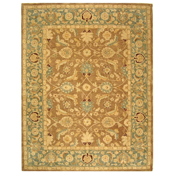 Safavieh Handmade Legacy Brown/ Blue Wool Rug (9'6 x 13'6)