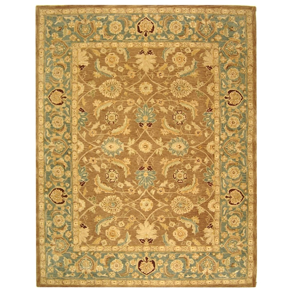 Safavieh Handmade Legacy Brown/ Blue Wool Rug (8' x 10')