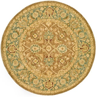 Safavieh Handmade Legacy Brown/ Blue Wool Rug (8' Round)