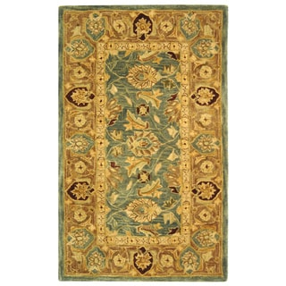Safavieh Handmade Legacy Blue/ Brown Wool Rug (3' x 5')