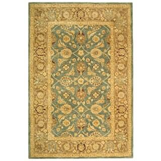 Safavieh Handmade Legacy Blue/ Brown Wool Rug (6' x 9')
