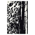 Handmade Soho Deco Black/ White New Zealand Wool Rug (3'6 x 5'6)
