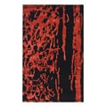 Handmade Soho Deco Black/ Red New Zealand Wool Rug (8'3 x 11')