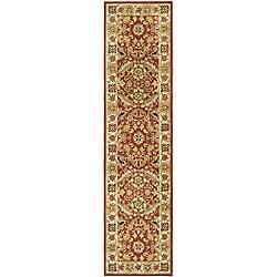 Safavieh Hand-hooked Kashan Red/ Ivory Wool Runner (2'6 x 12')