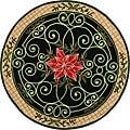 Safavieh Hand-hooked Irongate Wreath Green/ Beige Wool Rug (4' Round)