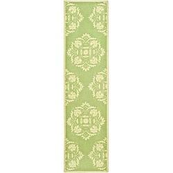 Safavieh Hand-hooked Motifa Light Green Wool Runner (2'6 x 6')