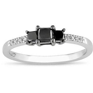 Miadora 10k Gold 1/2ct TDW Black Diamond Ring (H-I, I2-I3)