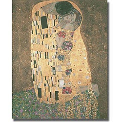 Gustave Klimt 'The Kiss' Stretched Canvas