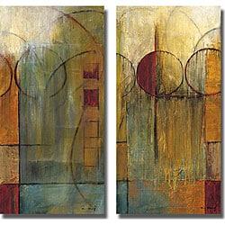 Mike Klung 'Slender Friends I & II' 2-piece Unframed Canvas Set