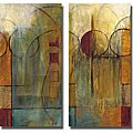 Mike Klung 'Slender Friends I & II' 2-piece Unframed Canvas Set