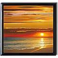 Dan Werner 'Sunset on the Sea' Black-framed Canvas Art