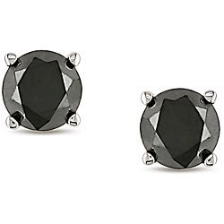 Miadora 14k Gold 3/4ct TDW Black Diamond Stud Earrings