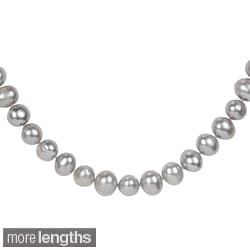 Miadora Grey Freshwater 9-10mm Pearl Necklace (18-24 inches)