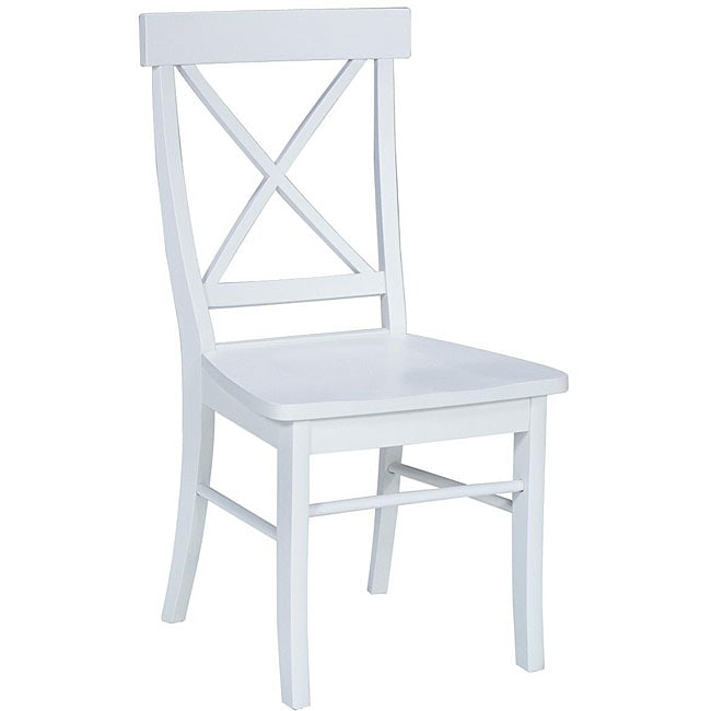 Linen White X-back Chairs (Set of 2)