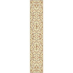 Lyndhurst Collection Traditional Ivory/ Ivory Runner (2'3 x 16')