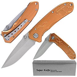 Metallic Orange 'Widow Spider' Folding Pocket Knife
