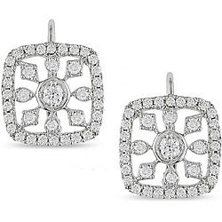 Miadora 14k Gold 3/4ct TDW Diamond Snowflake Earrings (H-I, I1)
