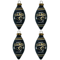 St. Louis Rams Teardrop Ornaments (Set of 4)