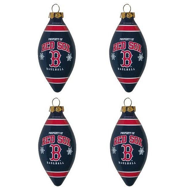 Boston Red Sox Teardrop Ornaments (Set of 4)
