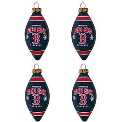 Boston Red Sox Teardrop Ornaments (Set of 4)