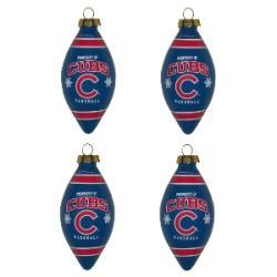 Chicago Cubs Teardrop Ornaments (Set of 4)