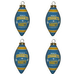 Denver Nuggets Teardrop Ornaments (Set of 4)
