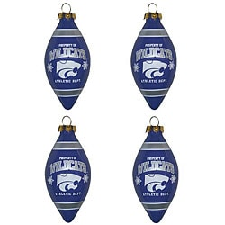 Kansas State Wildcats Ornaments (Set of 4)