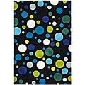 Handmade Soho Bubblegum Black/ Multi N. Z. Wool Rug (6' x 9')