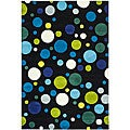 Handmade Soho Bubblegum Black/ Multi N. Z. Wool Rug (7'6 x 9'6)