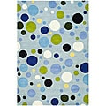 Safavieh Handmade Bubblegum Light Blue/ Multi N. Z. Wool Rug (6' x 9')