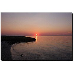 Cary Hahn 'Sunset Beach' Gallery-wrapped Canvas Art
