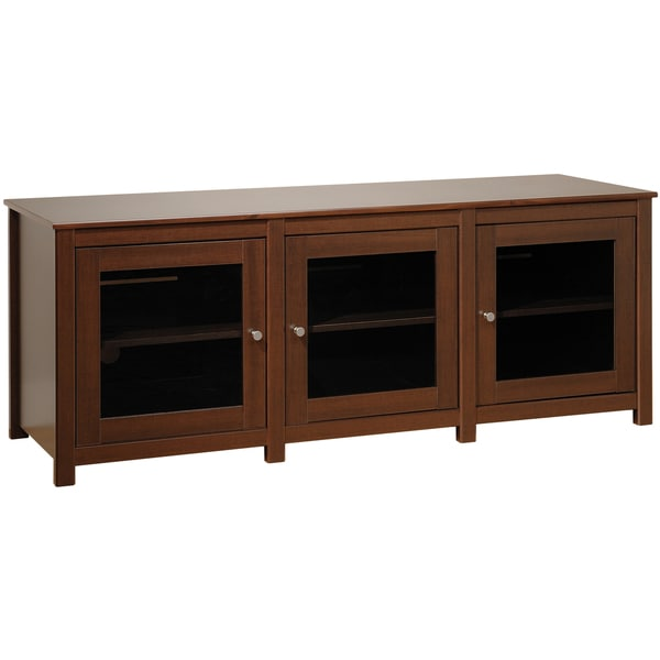 Everett Espresso Flat Panel Plasma / LCD TV Console with Glass Doors