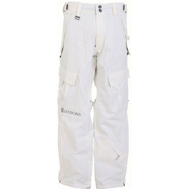 Sessions The Hot Men's Large Smoke White Snowboard Pants
