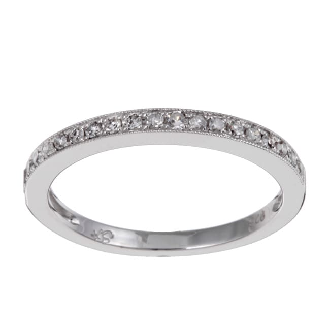 10k white gold tdw diamond stackable band ring h i i2 3