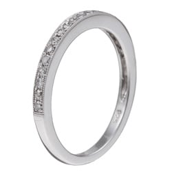 Sterling Silver 1/10ct TDW Diamond Ring (I-J, I1-I2)