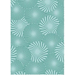 Hand-tufted Aqua Bursts Wool Rug (8' x 10')
