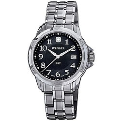 Wenger Men's Swiss Military GST Chronograph Watch with Black Dial