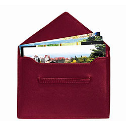 Royce Red Leather Envelope Photo Holders (Pack of 2)