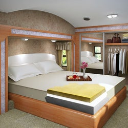 Accu-Gold Memory Foam Mattress 8-inch California King-size Bed Sleep System