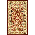 Safavieh Hand-hooked Kashan Red/ Ivory Wool Rug (2'9 x 4'9)