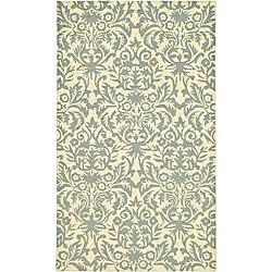 Safavieh Hand-hooked Damask Beige-Yellow/ Grey Wool Rug (3'9 x 5'9)