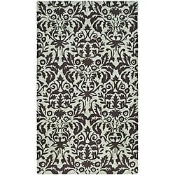 Safavieh Hand-hooked Damask Sage/ Chocolate Wool Rug (2'9 x 4'9)