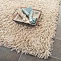 Safavieh Hand-woven Bliss Taupe Shag Rug (9'6 x 13'6)