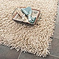 Hand-woven Bliss Taupe Shag Rug (3' x 5')
